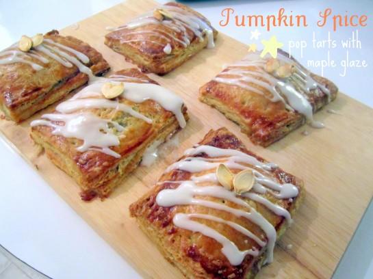 Pumpkin Spice Pop Tarts with Maple Glaze | Victoria Sponge, Pease ...