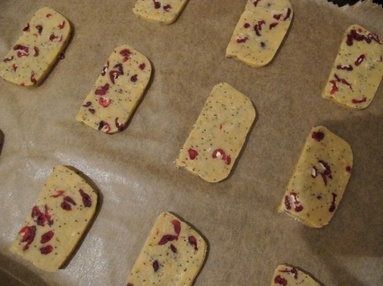 baking sheet with slice and bake cookies