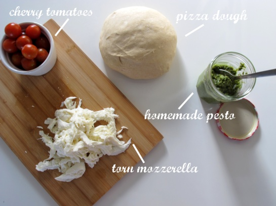 Cherry Tomato Rocket and Pesto Pizza Toppings