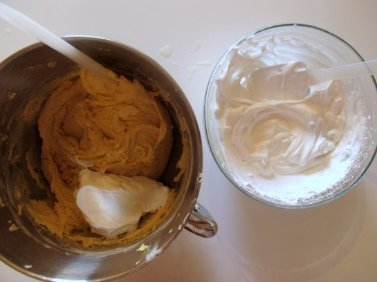 how to fold in egg whites to cake batter