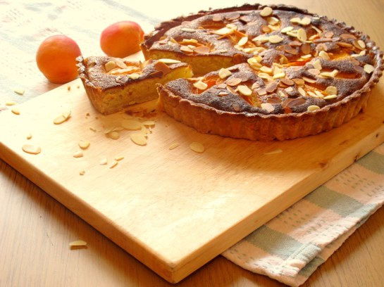 Apricot and Lemon Fragipane Tart