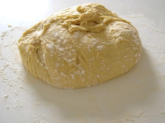 Doughnut Dough after first prove